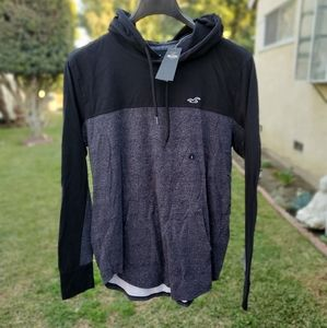 Men's Hollister hooded tee shirt colorblock
